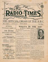 Cover of The Radio Times Magazine, 28 September 1923