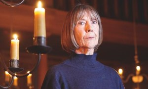 Eileen Atkins inside the playhouse, the Globe's new indoor theatre