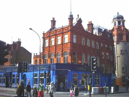 The Bush Theatre pub (until October 2011) on the corner of Goldhawk Road and Shepherd's Bush Green.