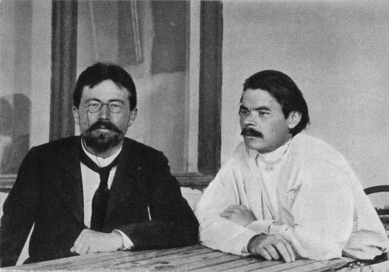 Anton Chekov with Gorky at Yalta 1900