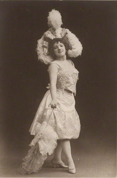 British actress Marie Lloyd, on a postcard c.1890s