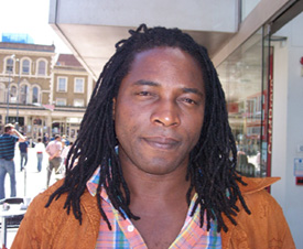 Photo: © Josephine Rodrigues Biyi Bandele outside the Lyric Hammersmith