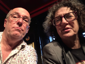At The Grouchy Club yesterday: a bad selfie of Coptick and me