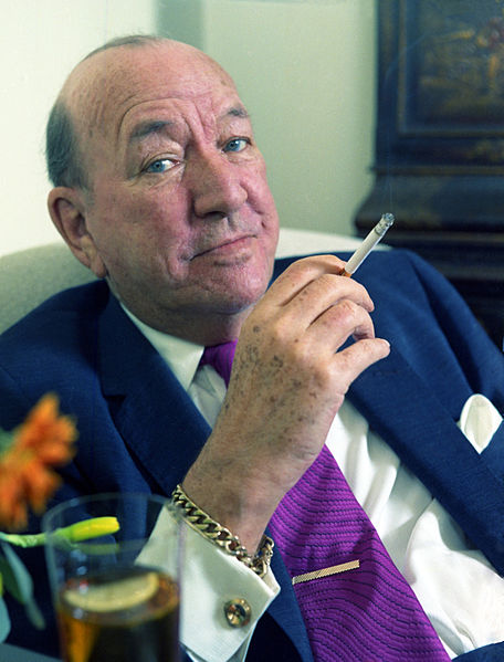 Portrait for Noël Coward's last Christmas Card