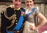 Miles Richardson as Charles III & Elinor Lawless as his daughter-in-law in Charles III at Wyndham's Theatre