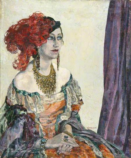 Miss Flora Robson as Lady Audley, by Ethel Léontine Gabain, 1933