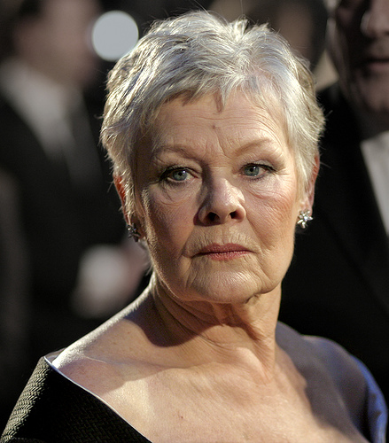 Dench at the BAFTAs, February 2007