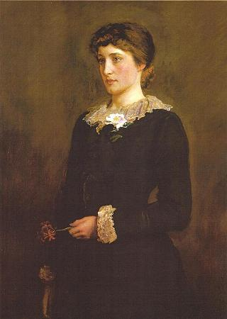 A Jersey Lily, portrait of Lillie Langtry, painted by John Everett Millais 1878