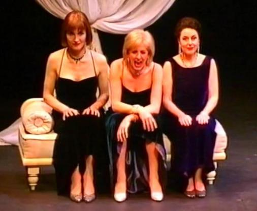Dillie Keane, Adele Anderson and Marilyn Cutts in performance. Taken during Fascinating Aida's Barefaced Chic! run at the Lyric Hammersmith in 2000 [Wikimedia]