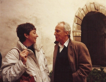 Maroussia and Ian Richardson © Miles Richardson