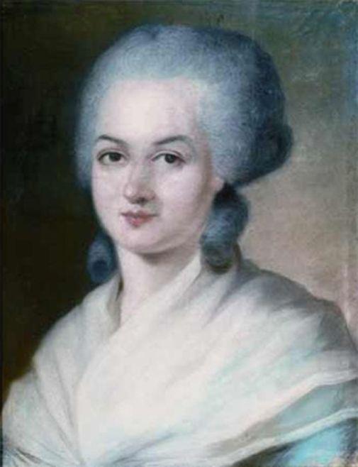 Portrait of Olympe de Gouge by Alexandre Kucharski [Wikimedia]