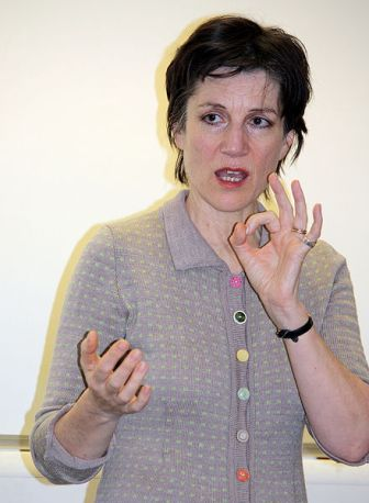 """Dame Harriet Walter discusses the role of women in Shakespeare plays as part of the RSC's """"Stand up for Shakespeare"""" programme in January 2009 [Wikipedia]"""