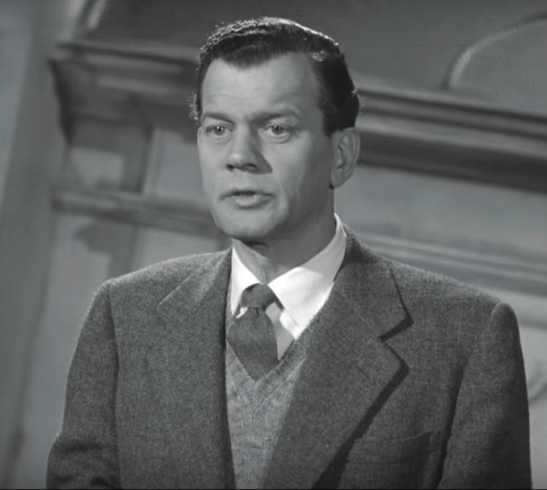 Joseph Cotton as Holly Martins in The Third Man [still from video clip]