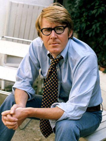 Alan Bennett in 1973, photographed by Allan Warren [Wikimedia]