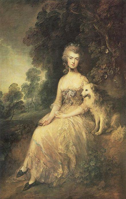 Portrait of Mary Robinson by Thomas Gainsborough, 1781 [Wikipedia]