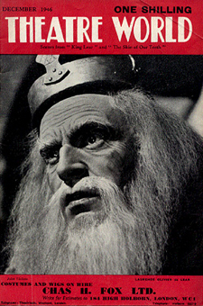 Olivier as Lear on the cover of Theatre World © Sarah Vernon