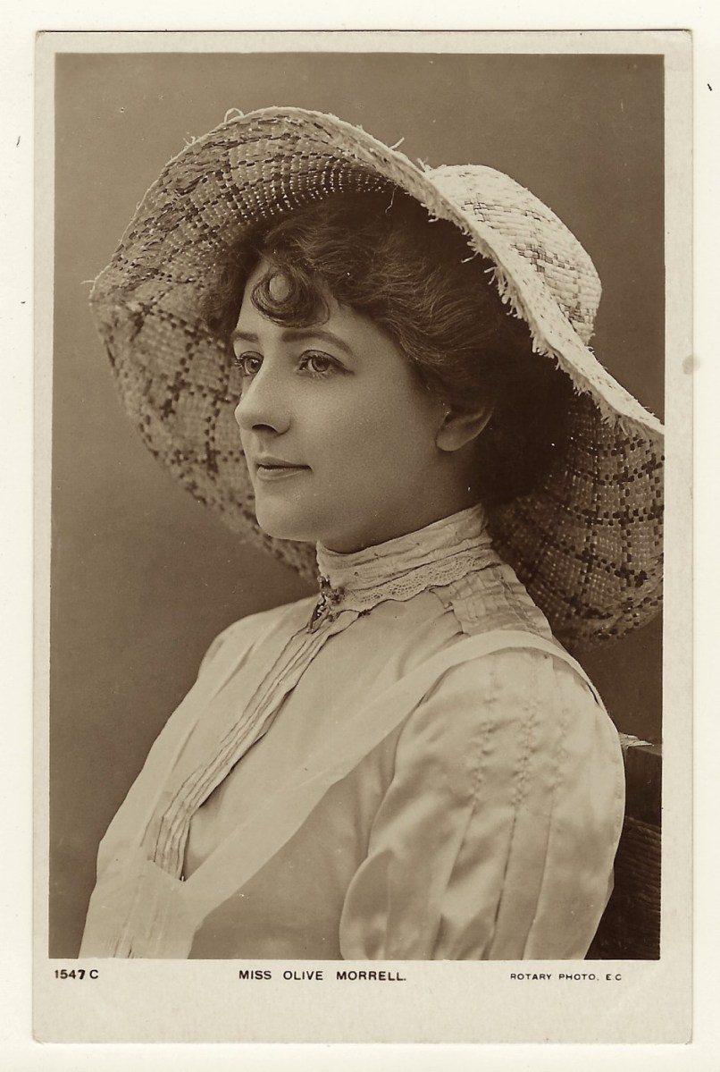 BEAUTIFUL BRITISH STAGE ACTRESS: OLIVE MORRELL (VINTAGE REAL PHOTO POSTCARD) | THE CABINET CARD GALLERY