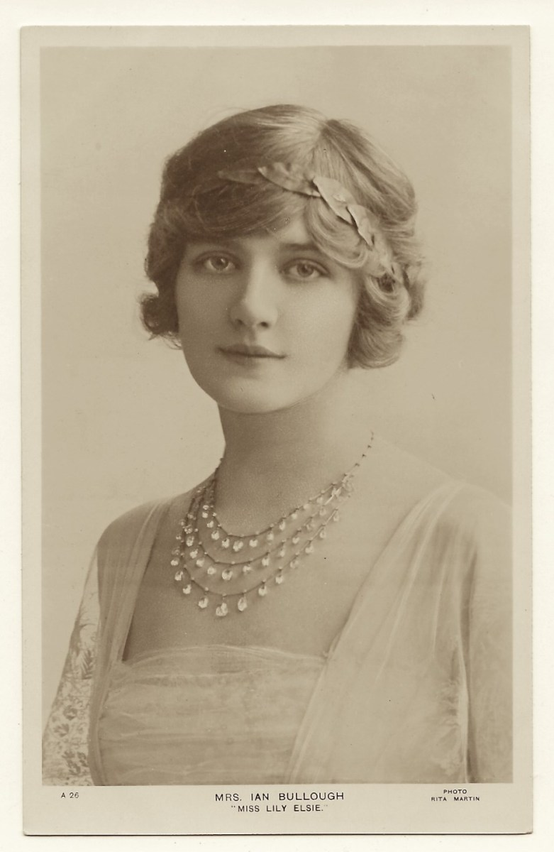 PORTRAIT OF LILY ELSIE: BEAUTIFUL AND TALENTED STAGE ACTRESS (VINTAGE RPPC) | THE CABINET CARD GALLERY