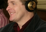 Robert Bathurst recording the DVD audio commentary for the first series of Joking Apart.
