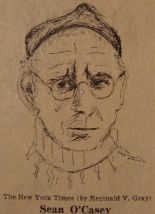 Drawing of Sean O'Casey by Reginald Gray for The New York Times 1964 [Wikimedia]
