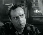 Marlon Brando in a screenshot from the trailer for the film On the Waterfront.