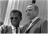 With James Baldwin at the Civil Rights March on Washington D.C., 1963
