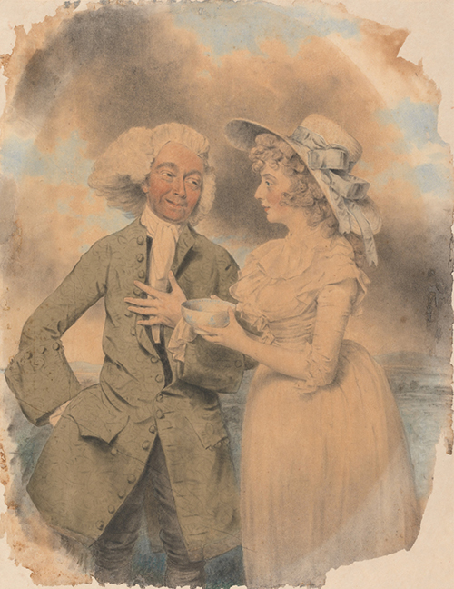 "John Edwin and Mrs Mary Wells as Lingo and Cowslip in ""The Agreeable Surprise"". Yale Center for British Art, Paul Mellon Collection."