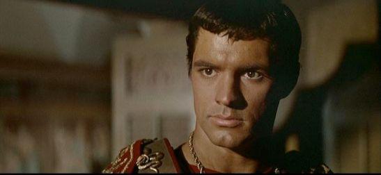 "John Gavin as Julius Cesar in Kubrick's ""Spartacus"""