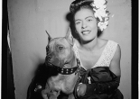 Billie Holiday and Mister at Downbeat in New York City, ca. Feb. 1947. Courtesy Library of Congress.