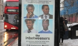 Legally Black's poster for its version of The Inbetweeners at a bus stop in Brixton. Photograph: LegallyBlackUK