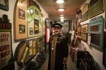 An usher in vintage uniform at London's Cinema Museum