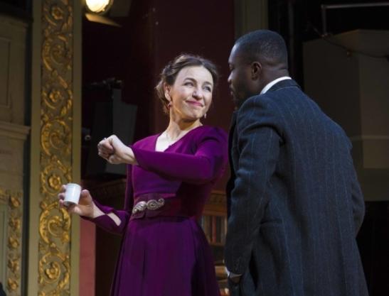 Kirsty Bushell (Madame Ranyevskaya) & Jude Owusu (Lopakhin) @ Jon Rowley