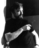 Autographed publicity photo of Stephen Sondheim. The fact that this is a signed photo given to an apparent fan indicates it was previously used for that purpose.