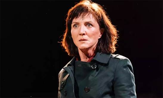 Michelle Fairley as Cassia (Cassius) in Julius Caesar at the Bridge theatre. 'Even today, female playwrights and directors are atypical. Shakespearian gender-swapping has been mooted as a partial solution.' Photograph: Manuel Harlan