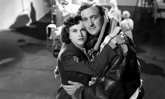 Kim Hunter and David Niven in A Matter of Life and Death. Photograph: Allstar/Cinetext/RANK
