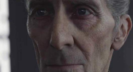 Cushing in his 2016 CGI incarnation as the Grand Moff Tarkin in 'Rogue One: A Star Wars Story' ( Disney )