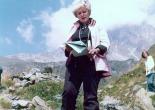 June Wyndham Davies on location in Switzerland for BBC's 1974 pr
