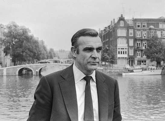 Sean Connery shooting the James Bond movie Diamonds are Forever in Amstedam 1971