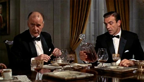 Richard Vernon & Sean Connery in Goldfinger [1965]